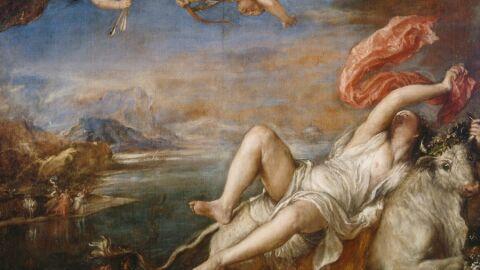 El rapte d'Europa. Tiziano