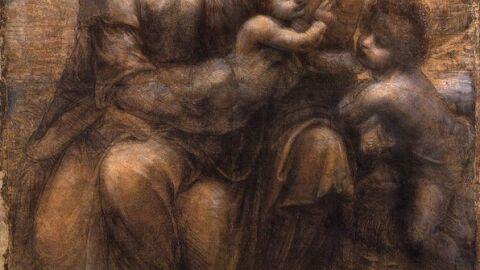 La Verge i Jesus amb Santa Anna y San Joan Baptista. Leonardo da Vinci.